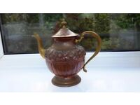 Copper and Brass Teapot made in Mexico