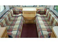 2 birth caravan seating.