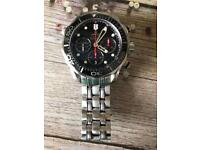 Omega seamaster 300m chrono dive watch. New shape with dials across bottom
