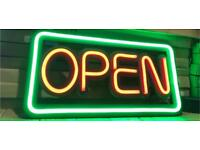 Open led neon sign new