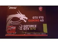 Nvidia Geforce GTX 970 and 750w Power Supply for sale