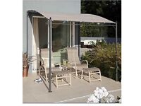 Garden canopy ordered last week delivered today but 2 big its 3.5 meters long pick up only