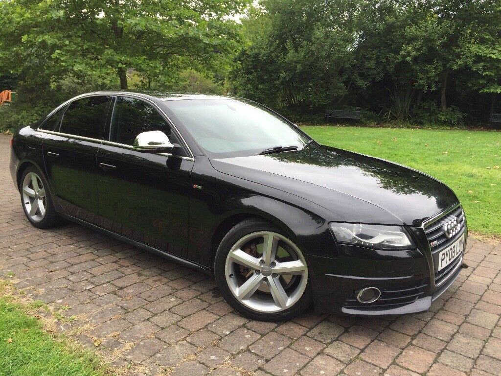 2008 audi a4 1 8 tfsi s line fsh xenons lights 6 gears aluminium window side and mirror covers. Black Bedroom Furniture Sets. Home Design Ideas