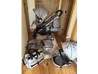 I candy peach 2 double pushchair in silvermint. - £500 In excellent condition