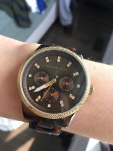 Michael Kors Tortoise Shell/Gold Watch