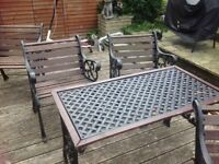 Table and 4 chairs £49