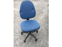 Blue Swivel Office Chair