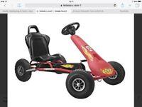 GO CART FREBEDO AIR RACER 1 pneumatic tyres RED