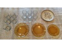 Job Lot of Glasses & Plates (Used)