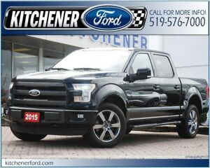 2015 Ford F-150 LARIAT/4WD/LEATHER/TOW PKG/NAVI/ROOF/RMT START