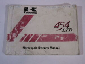 Kawasaki 454 LTD Owner and/or Service manual