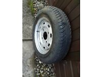 DAXARA TRAILER 13 INCH WHEEL AND TYRE SEE PICTURES FOR MORE