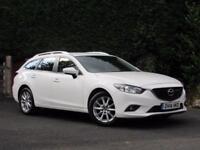 2014 Mazda 6 D TOURER Se-l SAT NAV, DIESEL, MANUAL, WHITE,