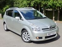 Toyota Corolla Verso, 7 Seats, 2 YEARS WARRANTY, DVD not ford Volkswagen vauxhall citroen honda seat