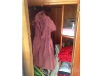 **Brown wardrobe 160cm x 86cm** great for clothes or storage