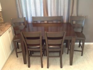 Counter-Height Dining Table and Chair Set - Reduced Price!!!