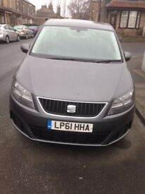 LEEDS PRIVATE HIRE TAXI 2012 61 PLATE SEAT ALHAMBRA 2.0 TDI S CR ECOMOTIVE