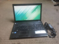 "or sale 15 6"" lcd widescreen laptop with changer £50"