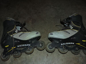 Salomon roller blades in very good condition Salomon roller blad