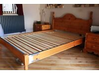"""4'6"""" solid pine bed"""