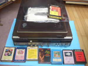 VINTAGE LLOYDS STEREO RECEIVER, 8 TRACK, AND TURNTABLE