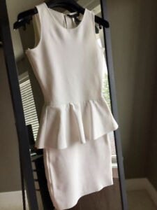 BCBG White Peplum Dress (Size XXS) - Perfect for Packwood GRAND
