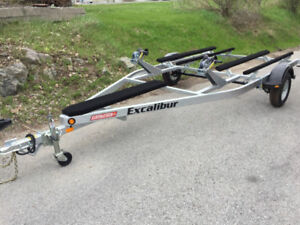 MARINE 2017 Excalibur Double PWC Trailer - Galvanized