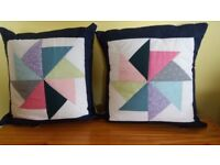 BEAUTIFUL HAND MADE PATCHWORK CUSHIONS. IDEAL GIFT?