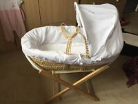 Lovely Moses basket for sale