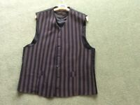Gents Navy Striped Waistcoat