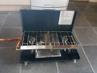 Camping Gas cooker, Gas bottle plus utensils