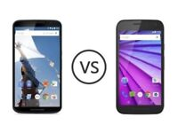 motorola nexus 6 moto G 3rd gen 2nd gen generations (UK phones)