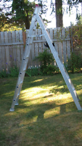 7 foot Three-Way Aluminum Ladder