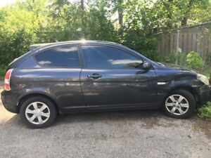 2007 Hyundai Accent with cosmetic damage only