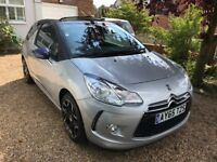 65 Plate Citroen Ds3 Cabrio 1.6 Diesel e-HDI Airdream DStyle Plus Cabriolet Silver 2DR Convertible