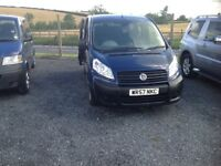 Fiat Scudo taxi bus. 9 seater including driver. Was used for special needs schools.