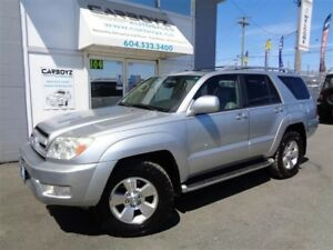 2004 Toyota 4Runner Limited V6 4WD, Leather, Sunroof