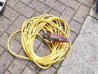 110 volt extension lead cable. 14M long. 16 amp