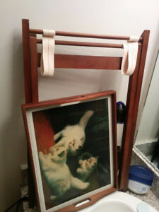 CUTE WHITE  SMALL CATS FOLDING TABLE