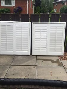 Two Plastic Levlor Shutters For Sale