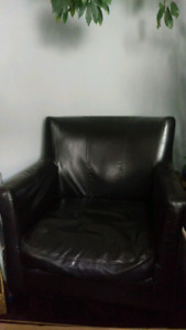 $20 Black Faux Leather Chair