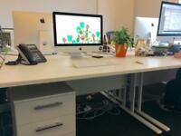 White office desk used for 1 year