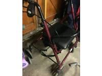 4 wheeler walker with seat
