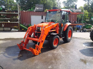 2013 KUBOTA L6060 W/LOADER AND REAR SNOWBLOWER