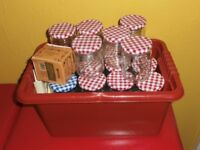 30 small glass lidded jars ideal for jam .....