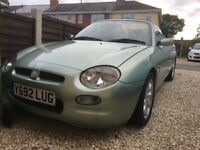 MGF sports car rare aluminia Green. low millage