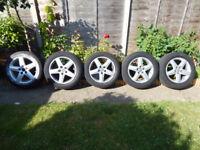 "VW / AUDI / SEAT / SKODA / MERC 17"" ALLOY WHEELS with tyres"