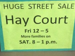 HUGE STREET SALE: HAY COURT