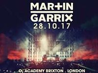 2 x Standing tickets for Martin Garrix at Brixton Academy on Saturday 28th October