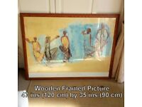 Large Wooden Framed Picture - Sizes & Details on photo
